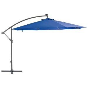 Parasol déporté Feeds 350 cm tissu Bleu